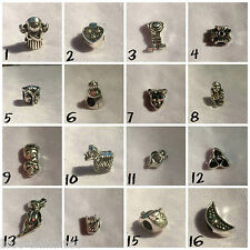 Silver Plated Charm Beads For European Charms Bracelets *Various Designs* #5