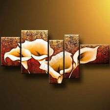 "5-Piece ""Calla Lily""Modern Canvas Oil Painting Home Decoration Abstract Wall"