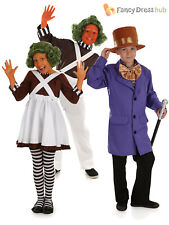 Childs Oompa Loompa Fancy Dress Costume Willy Wonka Outfit Kid Chocolate Factory