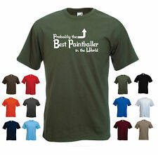 'Probably the Best Paintballer in the World' Funny Paintball Men's T-shirt