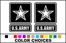 2x US ARMY Star *Choose Color & Size* Die Cut Vinyl Stickers Decals #a1336