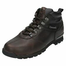 Mens Timberland Brown Leather Ankle Boots Lace Up Splitrock