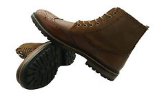 BRAND NEW La Milano Mens Brown Leather Wing Tip With Suede Dress Boots B5900