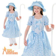 Child Deluxe Bo Peep Costume Girls Fairy Tale Book Week Day Fancy Dress Outfit