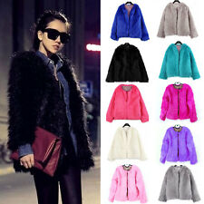 RE Fashion Ladies Womens Faux Fur Coat jacket Winter Parka Outerwear Size S M L