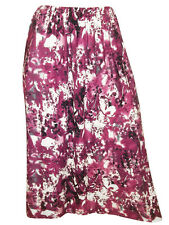 PLUS SIZE ex-CHAINSTORE PLUS SIZE PURPLE PRINT FULL LENGTH PULL ON FLARE SKIRT
