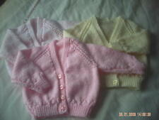 Hand Knitted Baby Cardigans.