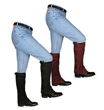 Weaver Leather Half Chaps - Brown or Black - All Sizes - New, Free Shipping