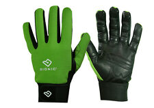 "1 Pair Bionic Womens Gardening Gloves - ""Bloom"" Mesh Back w/Leather Palm/Green"