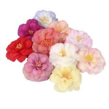 10 x Artificial Camellia Flower Heads Silk Roses for Wedding Party Decor 9 Color