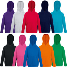 Fruit Of The Loom CHILDREN'S HOODIE HOODED SWEATSHIRTS KIDS BOYS GIRLS SWEAT TOP