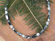 Womens Magnetic Hematite Bracelet Anklet Necklace 1 Row Silver Disc n Rhinestone