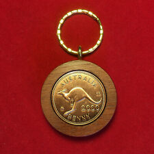 80th Birthday gift present 1936 Jarrah Penny Keyring other years available