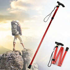 Aluminum Folding Handle Cane Retractable Stick Hiking Walking Travel Adjustable