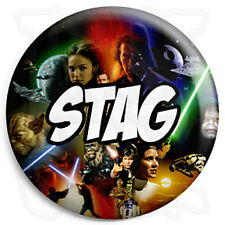 Stag - 25mm Star Wars Wedding Button Badge with Fridge Magnet Option