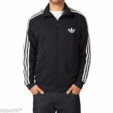 adidas Firebird Track Top Retro Old Skool Jacket Size S M L XL Black Mens New