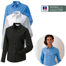 Russell Collection Ladies' Long Sleeve Polycotton Easy Care Poplin Shirt (934F)