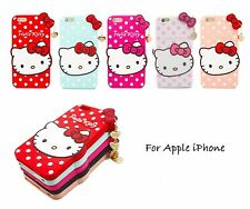 3D Cute Hello Kitty High Quality Silicone Rubber Case Cover for iPhone 5 6 Plus