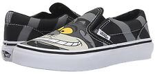 Vans Off The Wall Kids Youth Boys Girl Disney Cheshire Cat Classic Slip On Shoes