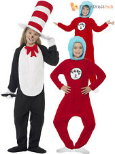 Kids Cat in the Hat Costume Dr Seuss Thing 1 2 Girls Boys Fancy Dress  Book Week