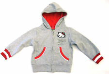 Girls Hello Kitty Grey & Red hooded top