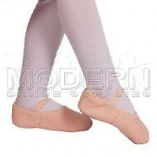 Leather Jazz Ballet Exam Shoes split sole Ballet Pink PLUS 2,5M BALLET RIBBON