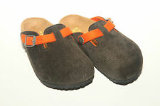 Birkenstock Textile BOSTON $109rrp Cord Green 26 Narrow BNIB Kids **CLEARANCE**