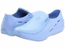 MOZO Womens Sharkz Slip on Uniframe Resistant Kitchen Nurse Work Shoes New Blue