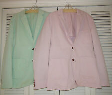 Men's French Connection Pink or Green Sport Blazer 2 Button Cotton $148 NWT
