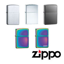 Zippo Windproof Lighter Range of High Quality Finishes Genuine Flame Fuel UK
