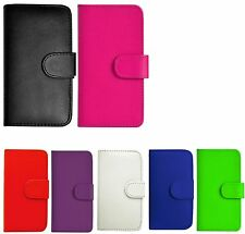 PU LEATHER FLIP WALLET CASE COVER FOR Apple iPhone Mobile + SCREEN PROTECTOR
