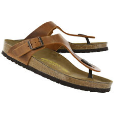 Birkenstock Oiled Leather Gizeh $179.95rrp - Antique Brown - BNIB 743781