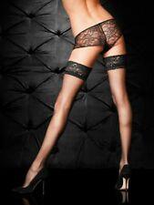 Ann Summers Womens Lace Top Glossy Hold Up Black Sexy Lingerie Underwear Hosiery