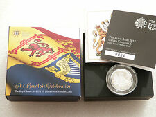 2015 Royal Arms Piedfort £1 One Pound Silver Proof Coin Box Coa Fifth Portrait