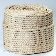 24mm NATURAL SISAL ROPE COILS, DECKING, GARDEN, CAT SCRATCHING POST, PARROT TOYS