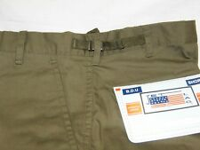 ARMY SHORTS CARGO BDU OLIVE GREEN TWILL 6 POCKETS  Size 32-34