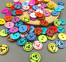 50/100PCS Bear Head Round Resin Buttons Fit Sewing and Scrapbooking 12mm Crafts