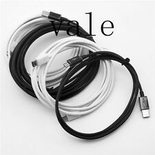 1M/2M/3M Black/White Type-C Male to Micro USB Male Charge Data Connector Cable