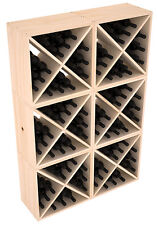 24-144 Bottle Wine Rack Cubes in Ponderosa Pine. Handmade in the USA. Free Ship!