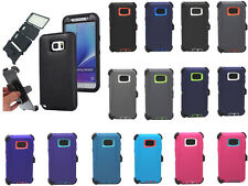 Defender Rugged Case for Samsung Galaxy Note 5 w/Belt Clip & Screen Protector