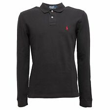 4598 polo RALPH LAUREN uomo t-shirt men nero