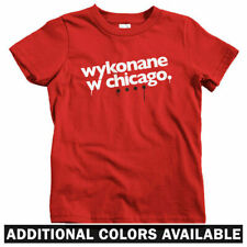 Made In Chicago Polish Kids T-shirt - Baby Toddler Youth Tee - Poland Polska IL