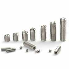 M4/M5 304 Stainless Steel Hex Socket Set Screws with Cup Point Grub Screw DIN916