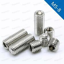 M5/M6/M8 Stainless Steel Hex Socket Set Screws with Cup Point Grub Screws DIN916
