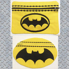 In-The-Hoop ZIP BAGS * BATMAN * Machine Embroidery Patterns * 5x7in hoop