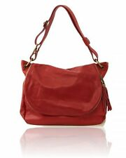 Tuscany Leather TL Bag - Soft Leather Shoulder Bag with Tassel Detail