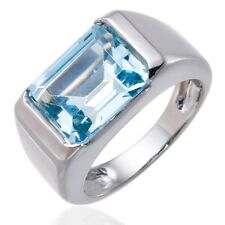 Sky Blue Topaz Gemstone Solid Sterling Silver 925 Ring