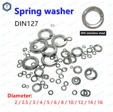 M1.6 to M12 Stainless steel Spring lock washers,Square ends Spring washer DIN127
