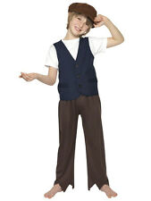 Child Victorian Oliver Twist Fancy Dress Costumes Book Week Kids Boys Outfit