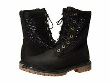 Women's Shoes Timberland Authentic Open Weave 6 Inch Boot A13R1 Black NUB *New*